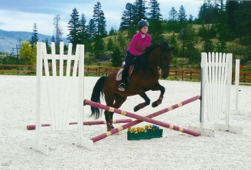 Zoe Ovendon riding Noble-T Shaughnessy